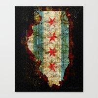 chicago Canvas Prints featuring Chicago by Tim Jarosz