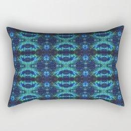 Aqua Astronomical Tiedye Rectangular Pillow