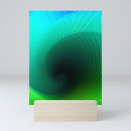 Blue surf geometric blue minimal Mini Art Print