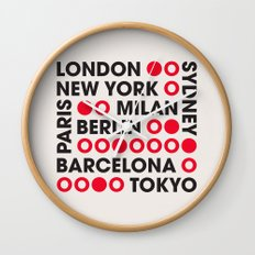 I Love This City Typography Wall Clock