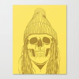 Skull Girl 3 Canvas Print