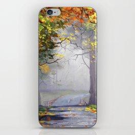 Misty Autumn Mt Wilson iPhone Skin