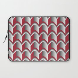 Abstract Red&Grey Pattern Laptop Sleeve