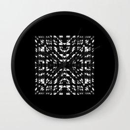 ONYX square black and white prismatic design with black border Wall Clock