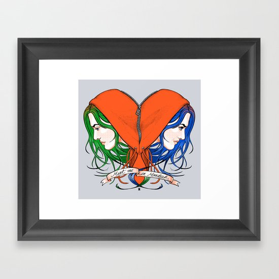 Clementine's Heart Framed Art Print