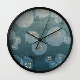 Petrol Blue Jellies Wall Clock