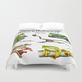 Gliding Frogs of the Asian Rainforests Duvet Cover