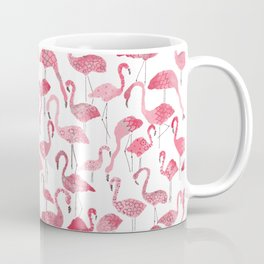 Tropical pink watercolor abstract floral flamingo Coffee Mug