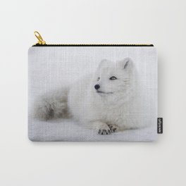 White snow arctic fox Carry-All Pouch