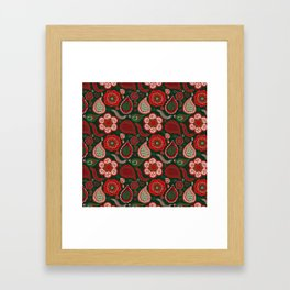 Boho Paisley Christmas Framed Art Print