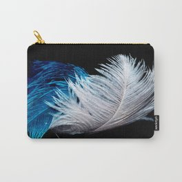 Blue and white feathers Carry-All Pouch