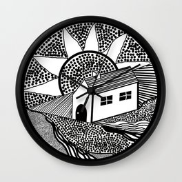 House of Lines Black Wall Clock
