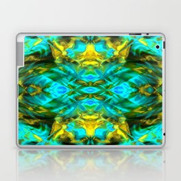 Mint and gold. Laptop & iPad Skin
