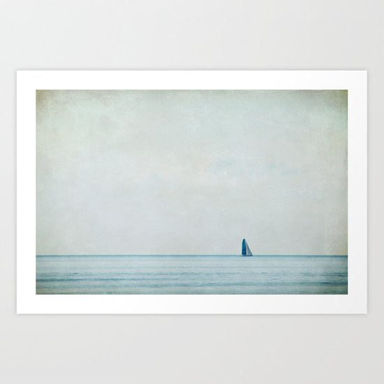 sailing under the big sky Art Print