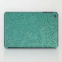 leather iPad Cases featuring teal leather by Sylvia Cook Photography