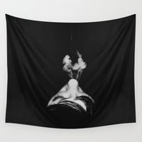 smoke Wall Tapestries featuring Smoke by Renata's Photobox