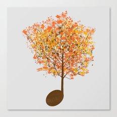 Note Tree Canvas Print