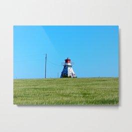 Electrified Lighthouse on the Ridge Metal Print