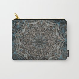 Blue and black Center Swirl Carry-All Pouch
