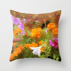 Every little garden seems to whisper a tune Throw Pillow