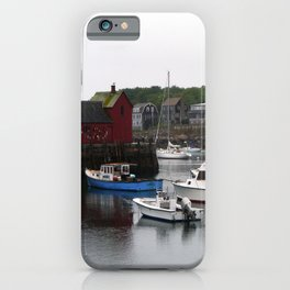 Rockport Inner Harbor With Lobster Fleet And Motif No.1 iPhone Case