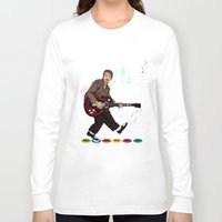 marty mcfly Long Sleeve T-shirts featuring Marty McFly plays Guitar Hero by Akyanyme