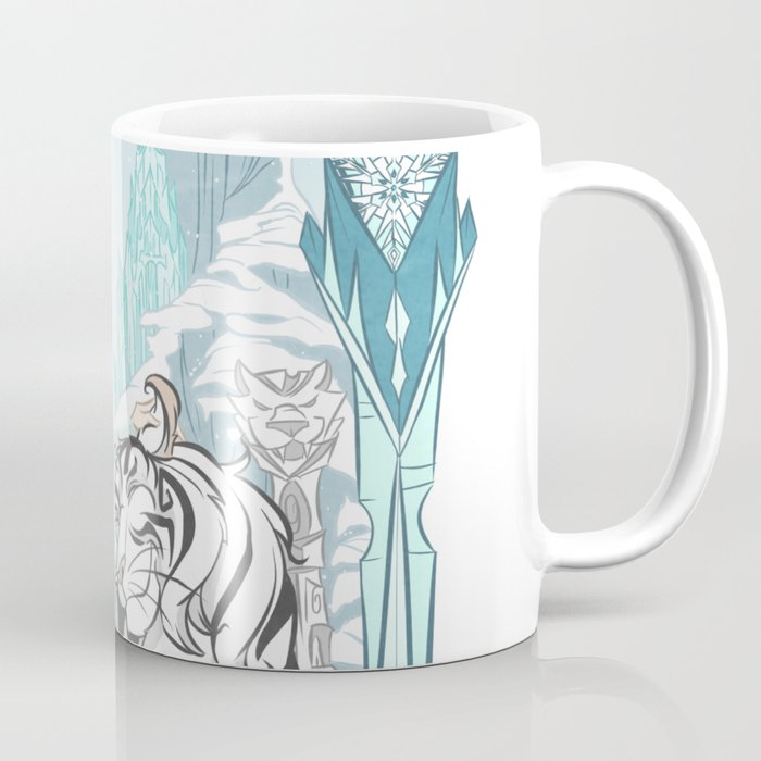 Frozen White Tiger Coffee Mug
