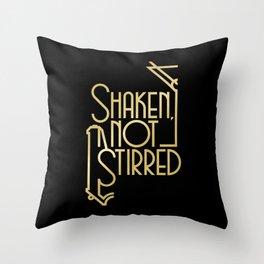 Shaken, not stirred. Throw Pillow