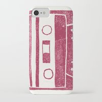 cassette iPhone & iPod Cases featuring Cassette by Brita A