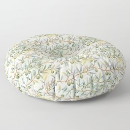 olive branches pattern Floor Pillow