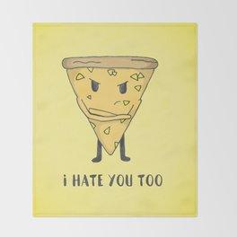 Pineapple Pizza Throw Blanket
