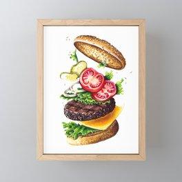 Burger Framed Mini Art Print
