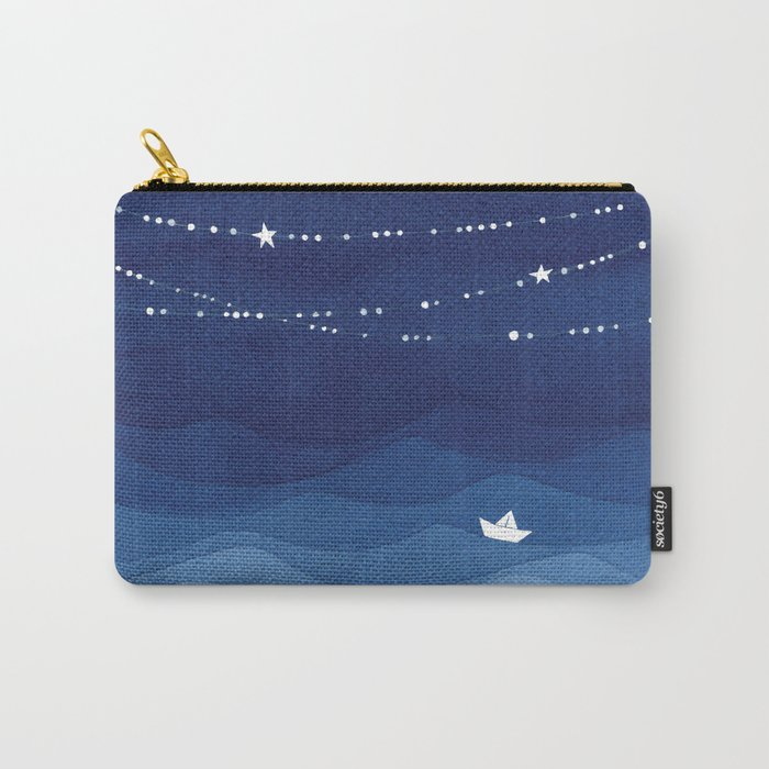 Garland of Stars IV, night sky Carry-All Pouch