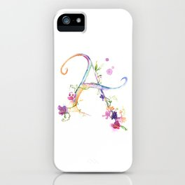 Letter A - Monogram Initial iPhone Case