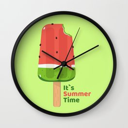 It's Summer Time Popsicle Wall Clock