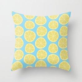 Lemon Slices Throw Pillow
