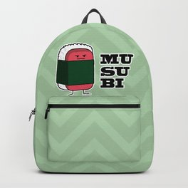 Happy Hawaiian Musubi Spam Sushi Nori Seaweed Backpack