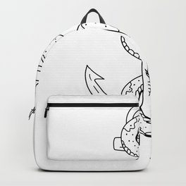 Rattlesnake Coiling on Anchor Drawing Backpack