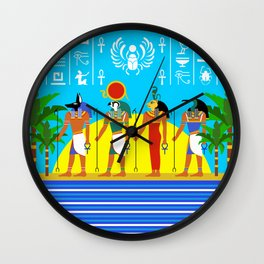 Egyptian Day Wall Clock