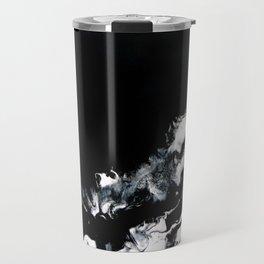Mirrored Smoke Abstract Painting Travel Mug