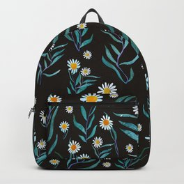 White Flowers Pattern Backpack