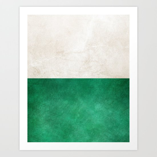Pearl & Emerald #society6 #decor #buyart Art Print