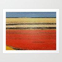 yellow horizon Art Print