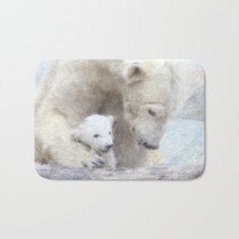 Polar Baer with Baby Bath Mat