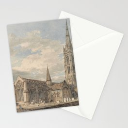 """J.M.W. Turner """"North East View of Grantham Church, Lincolnshire"""" Stationery Cards"""