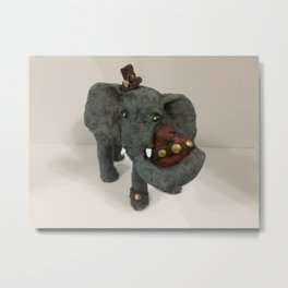 Steam Punk Elephant Metal Print
