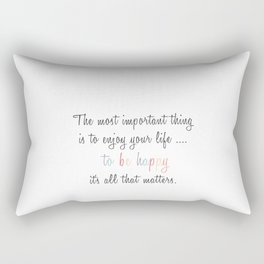 Inspiration Typography Quote Words Pastel Rectangular Pillow