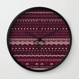 happy hygge Wall Clock