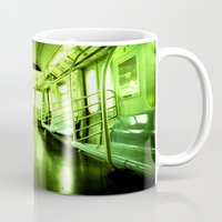 subway Mugs featuring Subway by Jacquie Fonseca