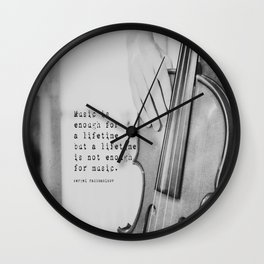 Music Quote Rachmaninov Wall Clock